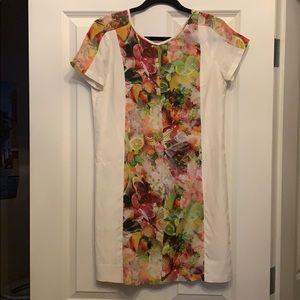 Club Monaco Melanie Tropical Silk Dress
